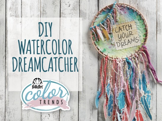 FolkArt Color Trend: DIY Watercolor Dreamcatcher