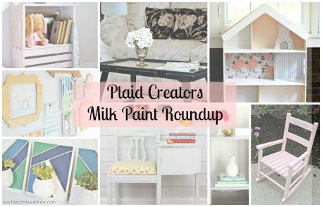 Plaid Creator's Milk Paint Makeover: 8 DIY Home Milk Paint Projects!