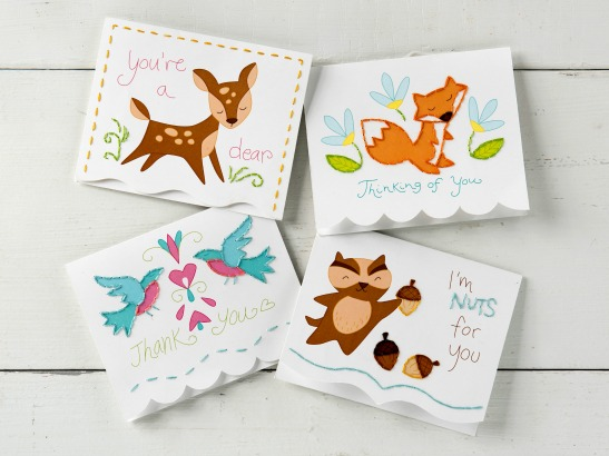 Sweetly Paper Stitched: DIY Note Cards with Aimee Ray!