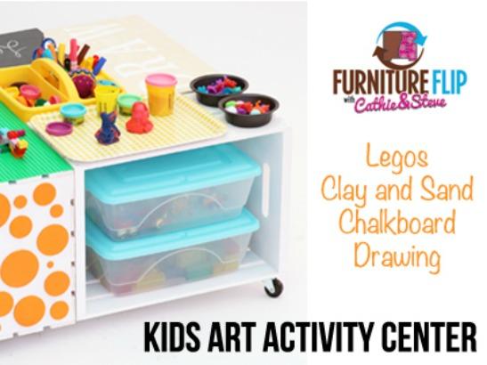 super easy diy kids activity art table