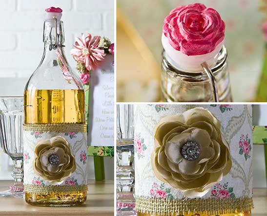 Lemonade decanter DIY project