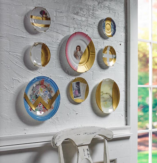 Decoupaged plates project idea