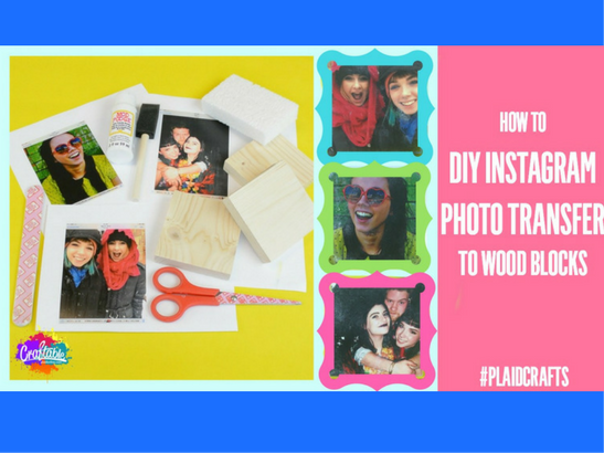 How to Photo Transfer Instagram Photos to Wood Blocks! New from Craftable