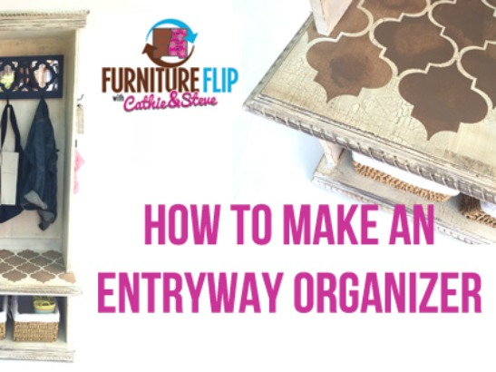 Furniture Flip: How to Make an Entryway Organizer
