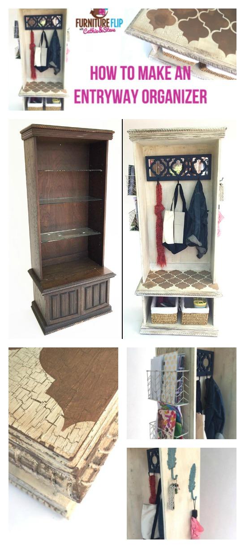 furniture flip how to make an entryway organizer plaid multipurpose furniture makeup organizer beauty dresser