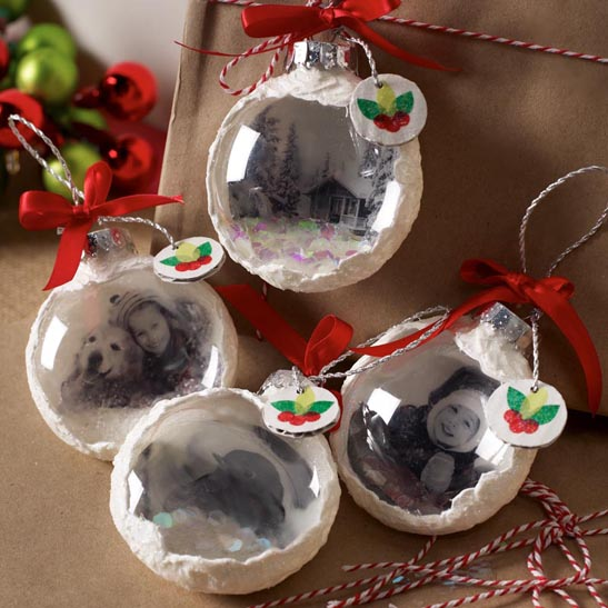diy mod podge photo transfer ornaments