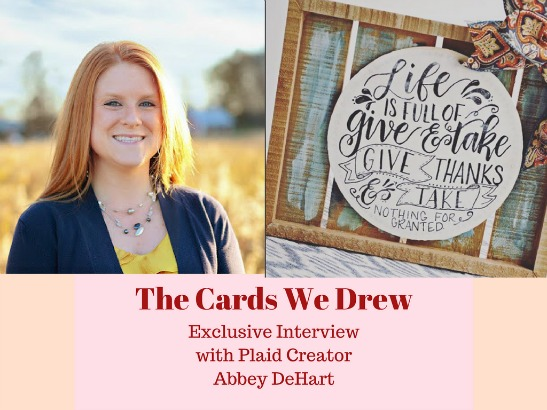 "Meet the Plaid Creators: Abbey DeHart of ""The Cards We Drew"""