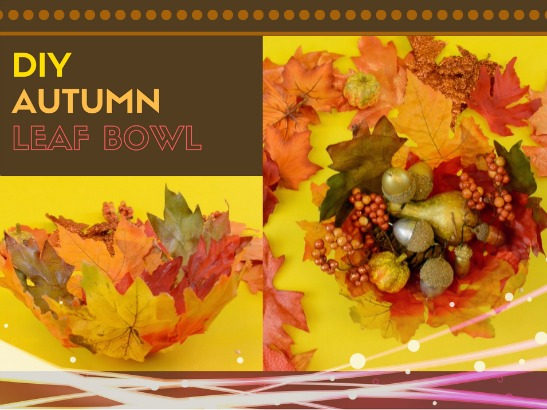 How to Make a Mod Podge Leaf Bowl this Fall by Craftable