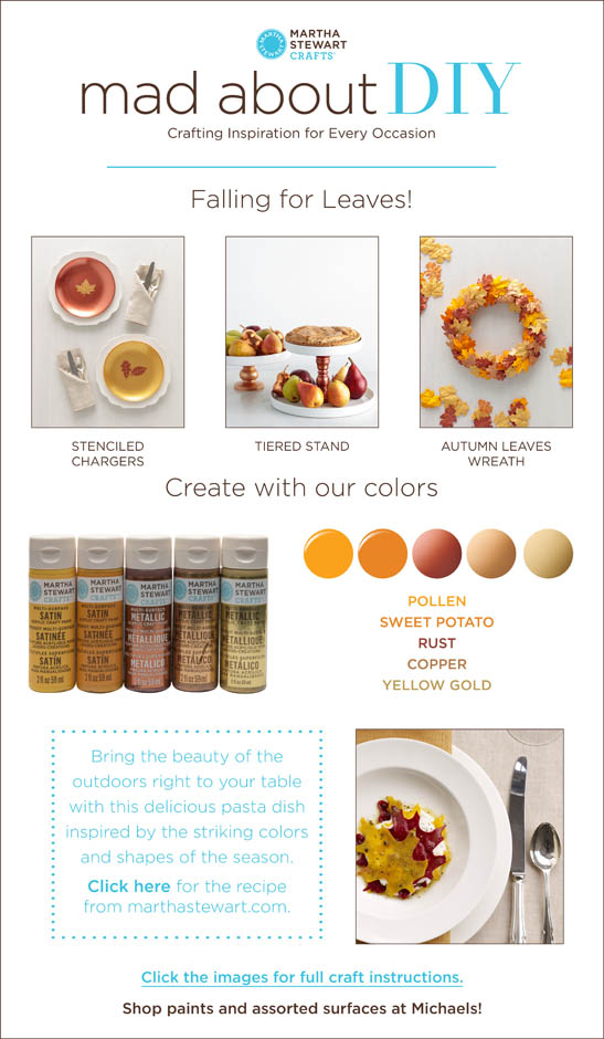 Mad About Diy 3 Fall Entertaining Projects With Martha Stewart Crafts Plaid Online