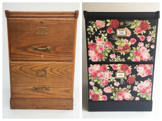 Furniture Decoupage Tutorial: File Cabinet Makeover