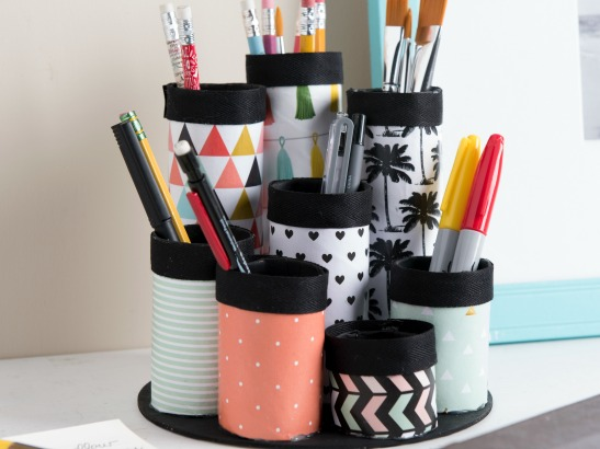 Organizing Hacks: 3 Recycled DIY Organizers with Mod Podge