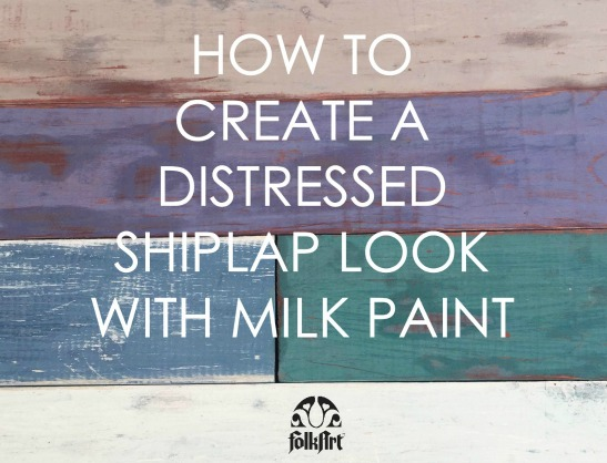 How to Create a Distressed, Faux Farmhouse Shiplap Finish