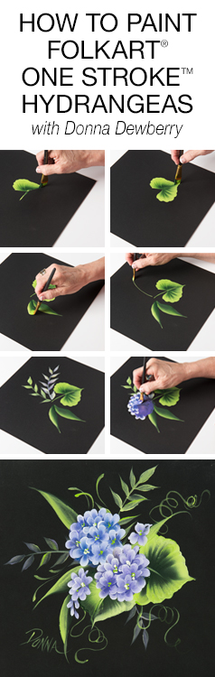 How to Paint One Stroke Hydrangeas with Donna Dewberry