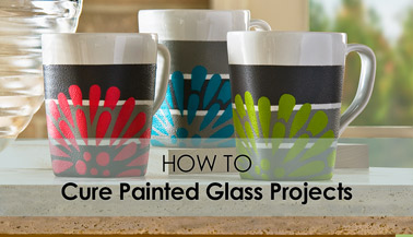 How to Cure Painted Glass Projects