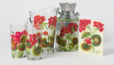 How to Paint One Stroke Geraniums with Donna Dewberry