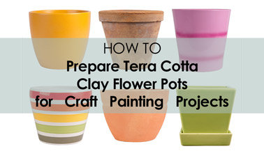 How to Prepare a Terra Cotta Clay Flower Pot for Painting Projects