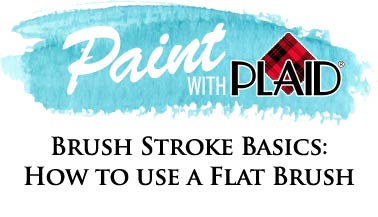 Brush Stroke Basics: How to Use a Flat Brush