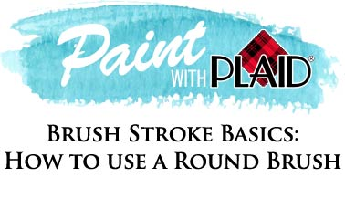 Brush Stroke Basics: How to Use a Round Brush