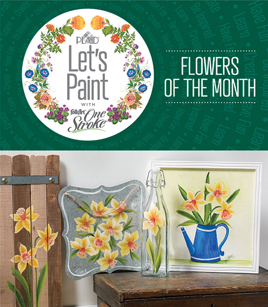 Let's Paint Flowers of the Month