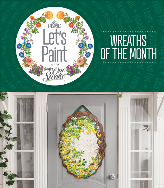 Let's Paint Wreaths of the Month