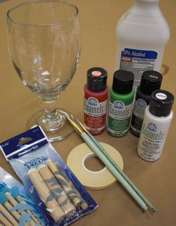 painting glassware 101 plaid online. Black Bedroom Furniture Sets. Home Design Ideas