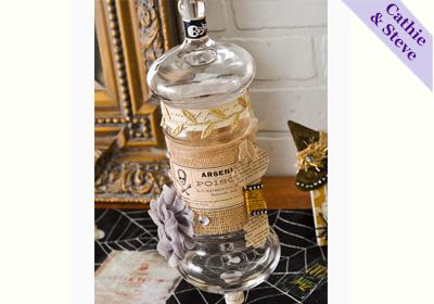 Vintage Glass Apple Flash Paint Jar
